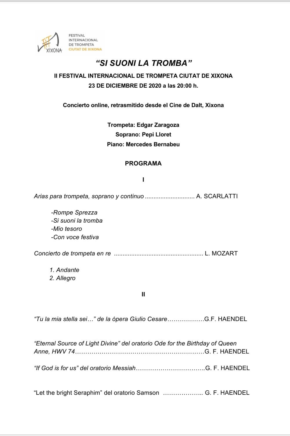 II Festival Internacional de Trompeta de Xixona